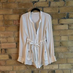 HOST PICK ✨Silk tie waist tunic jacket
